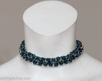 Chainmail collar necklace or choker
