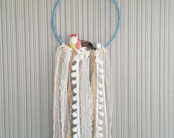 Small Denim Birdy Wall Hanging