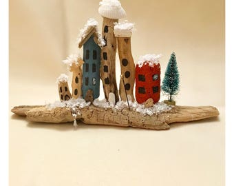 HALF PRICE SALE Driftwood winter scene