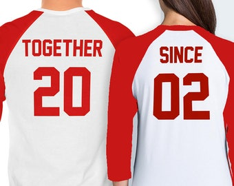 Together Since Couples Shirt - Valentine's Day and Anniversary Shirt