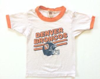 Vtg. Denver Broncos Kids T-Shirt / Size 7