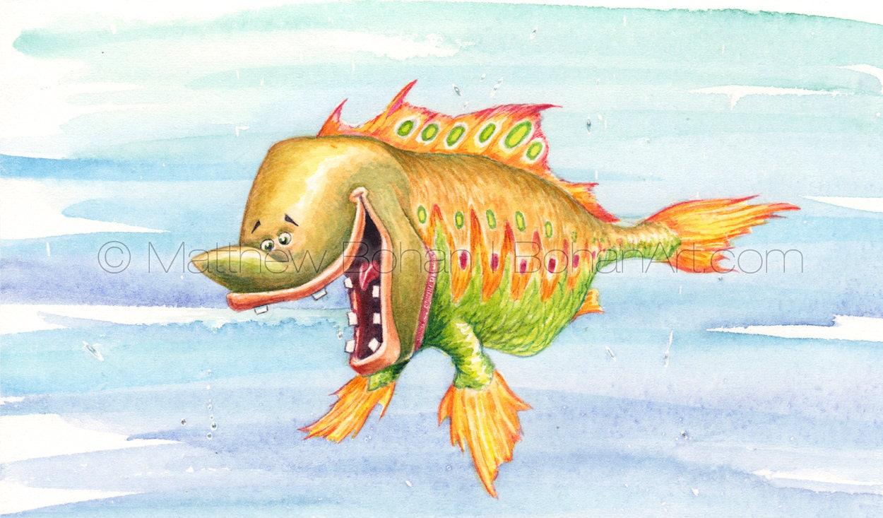 PRINT of Picklefish Crazy Fish Fish Art Fish