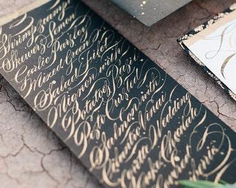 Menu Design in Digital Calligraphy