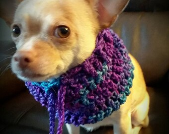 Small dog snood, Small  Dog cowl, Dog neckwarmer, +Free Shipping