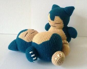 Sleeping Snorlax Crochet Plushie