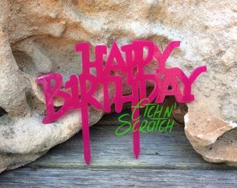 Birthday cake topper - Happy Birthday