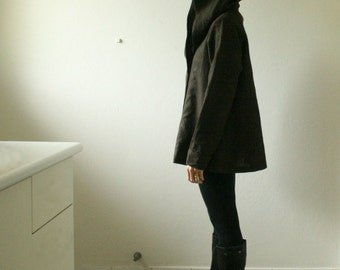 WOOL JACKET - gretel / hoodie coat / women / wool coat / winter / autumn / hooded coat / made in australia / pamela tang
