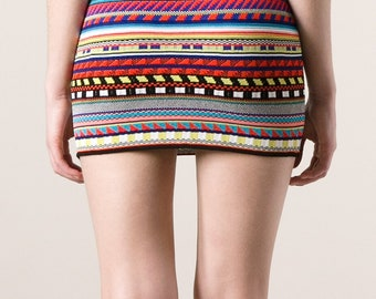 Emilio Pucci navajo knitted mini skirt