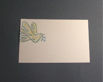 10 decoees cards. pattern: Dove with olive branch