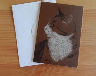 Tabby Cat - 'Maisy' Card