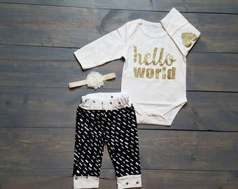 Infant Baby Girl Huntress Outfit 3 Piece Set, TUTU, Romper, Diaper Cover  #G-11