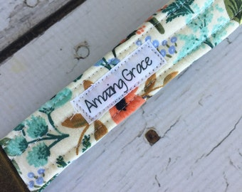 Boho Wristlet Key Fob, Rifle Paper Co. Amazing Grace , Floral Wristlet key fob, gifts for mom,  Ready to Ship