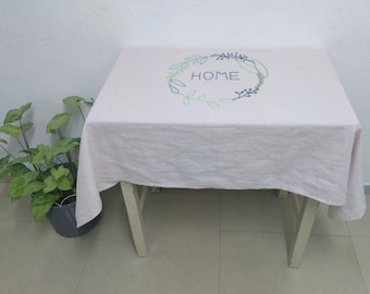 Personalized Tablecloth Christmas Gifts For Mom Tablecloth Linen Tablecloth Customized Table Cover New Home Gift