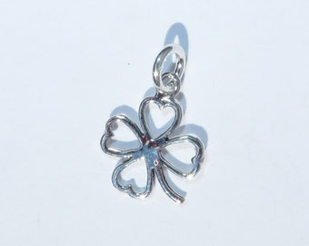 925 Genuine Silver Lucky Clover Charm - 92.5% Sterling Bracelet Necklace Wedding Christening Bride Bridesmaid 21 16 Birthday Gift 18 Irish