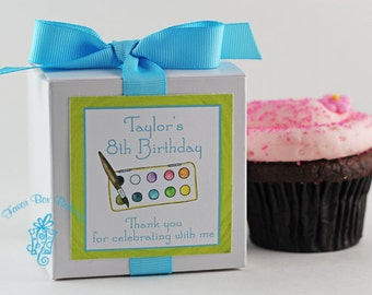 Little Artist...One Dozen Personalized Cupcake Mix Party Favors