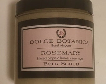 Rosemary Body Scrub, Sugar Scrub, Exfoliate, Essential Oils, Gift for Her, Gift for Him, Natural Skincare