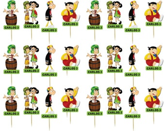Chavo del ocho 24 cupcake toppers