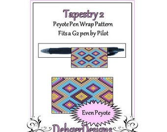 Bead Pattern Peyote(Pen Wrap/Cover)-Tapestry 2