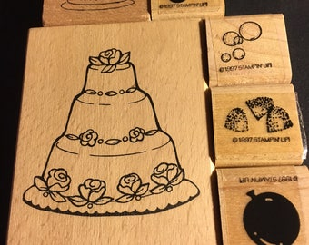 Six Celebration Stamps. Weddings, Birthdays, Special Events.