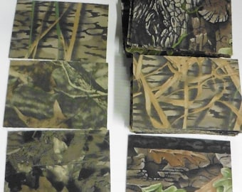 "50 Pieces Assorted  Camo  Card stock, 1/16"" Thick"