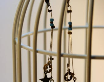 Cosmos turquoise star earrings