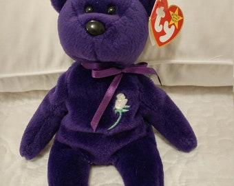 RARE 1st EDITION Princess Diana Ty Beanie Baby.  PVC Pellets, Hand Made in China No space hang tag