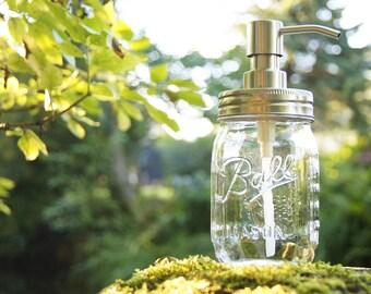B-Ware Ball Mason soap Dispenser-transparent-470 ml-soap jar
