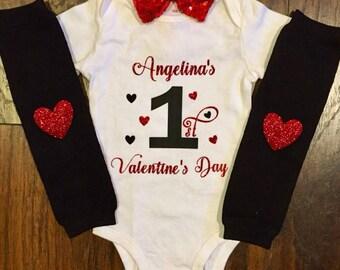 Valentine's Day Onesie Set