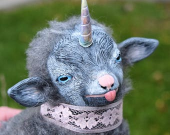 Bubblegum - Baby Goaticorn - OOAK Art Doll