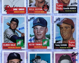 Major League Baseball Card Collection 45pgs Over 750 cards                                                   1953 Archives to 1990 Topps etc