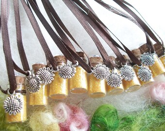 Sunflower Party Favors 10 Yellow Magic Sparkle Glitter Garden Party Favors Thank You Gift Gnome Princess Small Gift Prize Offering