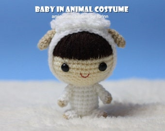 INSTANT DOWNLOAD Amigurumi Pattern Baby in Sheep Costume/ Chinese Zodiac Sheep