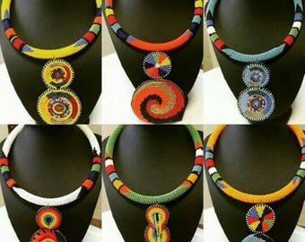 African masai beaded necklaces,african choker necklaces handmade necklaces multicolour necklaces