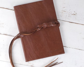 Braided Wrap Book, Hand Braided Leather Closure
