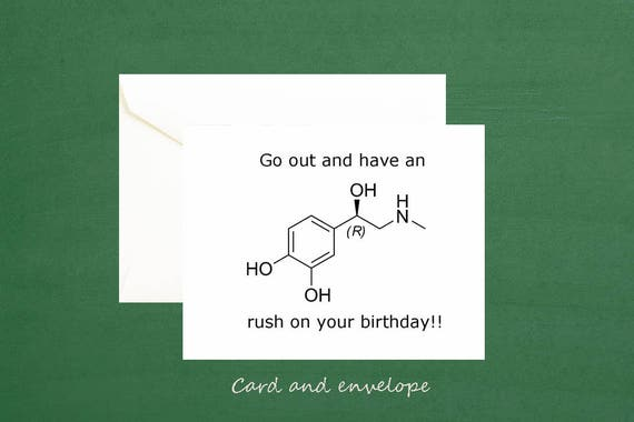 Birthday Cards Brother In Law ~ Adrenaline nerd chemistry card any occasion card 21st