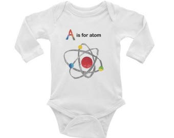 A is for Atom Long Sleeved Onesie