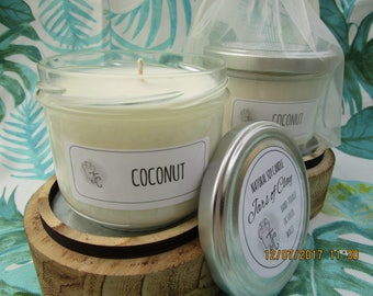 Tropical Coconut scented Soy Candle