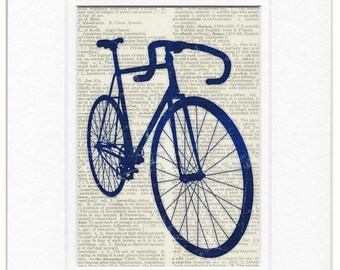 Blue Bike dictionary print