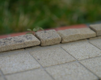 25 1:12th Scale Real Stone Sandstone Patio Slabs (25 sq ins)