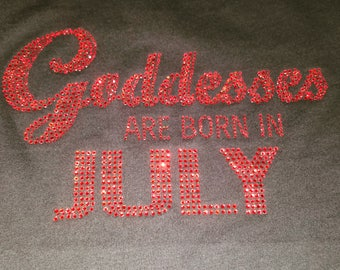 Goddess Are Born In July-Red Stone