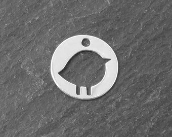 Sterling Silver Chick Component 10mm