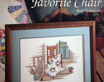 Grandma's Favorite Chair Book Twenty Six By Paula Vaughan Vintage Cross Stitch Pattern Leaflet 1989