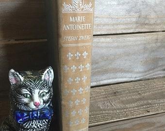 Vintage Book - Marie Antoinette - Classic Literature - 1930s Book - Farmhouse Style - Hardback Book