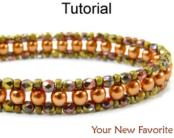 Beaded Bracelet Jewelry Making Tutorials - Beading Patterns - Right Angle Weave - RAW - Simple Bead Patterns - Your New Favorite #452