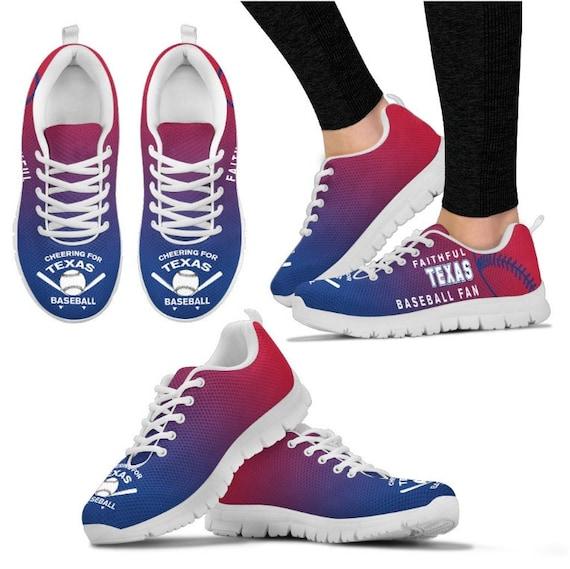Shoes Rangers Walking PP Sneaker Fan Baseball Texas 059A HB dwvqIW