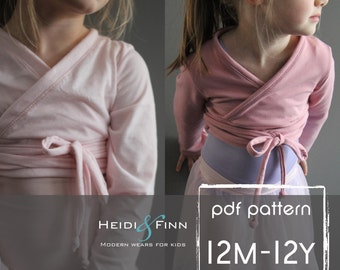 Ballet Sweater pattern and tutorial 12m - 12y PDF pattern  girl modern shrug, wrap bolero dance