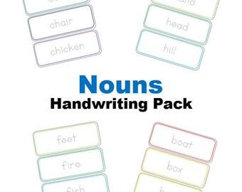Nouns Handwriting Pack