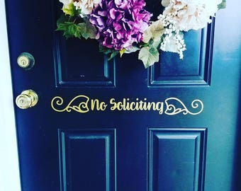 No Soliciting Door Sign