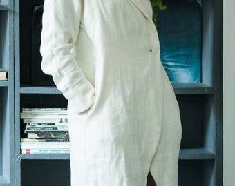 Linen maternity cloth - Linen gift for her - Linen house wearing - Linen holiday robe - Linen asymmetric robe - Linen kimono - Linen gown