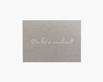 Map - postcard - greeting card you're so wonderful
